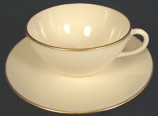 Lenox Olympia Gold X303 Cup and Saucer Set(s) Ivory White Mint Condition (#21)