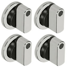 LEISURE Genuine Oven Cooker Hob Control Knob Switch Silver Black 250371045 x 4