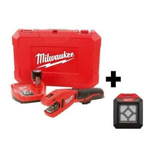 Tubing Cutter Kit 12-Volt Lithium-Ion Variable Speed Battery/Charger Included