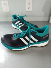 ADIDAS SUPERNOVA GLIDE - Mens Size 12 Teal and Black Running Shoes EUC Sneakers