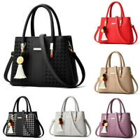 Women PU Leather Handbag Shoulder Crossbody Tote Messenger Satchel tassel Bag