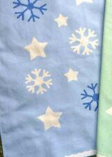 light blue white snowflakes print 100% cotton bread cloth dishcloth Tea Towel