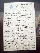1931 LETTERA VITTORIO TREDICI IGLESIAS DEPUTATO E PRESIDENTE DEL CAGLIARI CALCIO