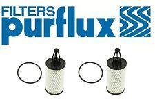 Set of 2 Engine Oil Filter Purflux L394 For Mercedes W204 W212 W218 W166 C350