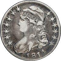 1814 E/A Capped Bust Half Dollar NGC F15 Fine Looks VF Very Fine O-108a