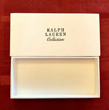 RALPH LAUREN White Empty Gift Box ONLY High Quality Textured EXCELLENT