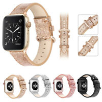 40/44mm Christmas Shiny iWatch Leather Band Strap for Apple Watch Series 5 4 3 2