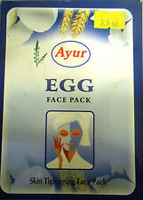 Ayur Egg Face Pack Powder 100grams Skin Tightening Removes Dead Skin USA SELLER