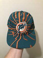 Vintage Miami Dolphins Starter Shockwave Snapback Hat Cap NFL Pro Line Rare