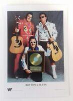 """WWF - Wrestler Tag Team Rhythm & Blues 7""""X5"""" Reprint Glossy Publicity Photo Shot"""