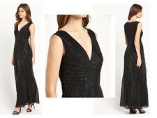 V-Neck Regular Size Dresses 1920s Look