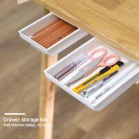Self-adhesive Drawer Storage Box ABS Under Desk Stationery Organizer Tray