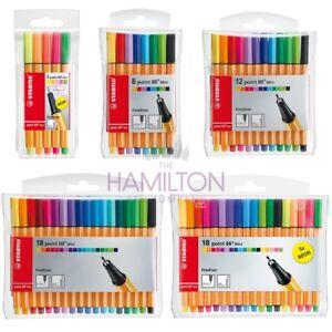 STABILO POINT 88 MINI FINELINER PEN - Various assorted packs of fineliner pens!