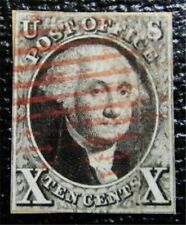 nystamps US Stamp # 2 Red Cancel $825
