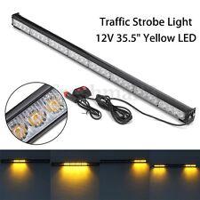 35.5'' Amber 32 LED Traffic Advisor Emergency Warning Strobe Light Bar Flash 12V