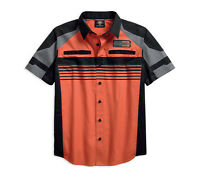 Harley-Davidson Men's Performance Vented Stripe Short Sleeve Shirt 96116-18VM