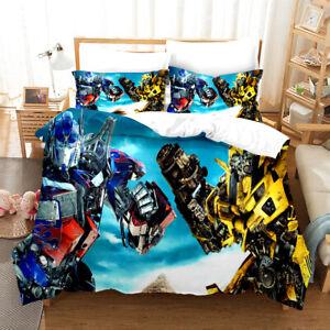 3D Transformers Design Bedding Set Character Boys Duvet Cover and Pillowcase