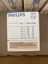 NOS Phillips 25 Watt Emergency Lamp Light Bulb 25W 120V Incandescent 25A19/35