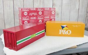 LGB (5057)  2 FULL SIZE CONTAINERS / P & O and LGB