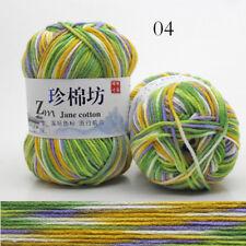 50g Soft Knitting wool Crochet wool colorful combing Milk cotton Yarn 30 colors