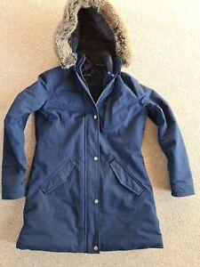 Womans Barbour Blue Size 12 Coat Hooded Elper Jacket Waterproof Breathable