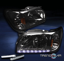 2001-2004 TOYOTA TACOMA PICKUP LED SMOKE CRYSTAL HEAD LIGHT+BUMPER DRL 2002 2003
