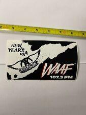 Aerosmith WAAF sticker promo Rare