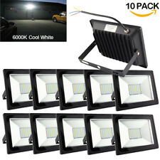 10Pcs 50W Led Floodlight Waterproof Security Spotlight Home Commercial Lamp Usa