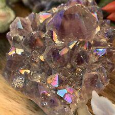Aura Amethyst Quartz - Rainbow Healing Crystal - Gemstone