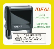 Kansas Notary Public Trodat Ideal Custom Self Inking Rubber Stamp