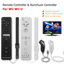 2in1 Built-in Motion Plus Wii Remote and Nunchuck controller +Case For Wii Wii U