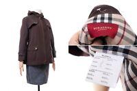 Women's BURBERRY LONDON Jacket Coat Blazer Brown Size 48 Nova Check Plaid