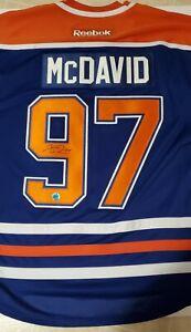Autographed  Connor mcdavid Edmonton jersey (Ajs sports COA) Authentic replica.
