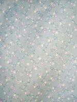 1 Coupon tissu Patchwork Blossom Lane petites fleurs sur fond vieux bleu 45X55cm