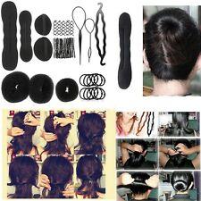 Women Fashion Hair Styling Clip Stick Bun Maker Braid Tool Kit Accessories
