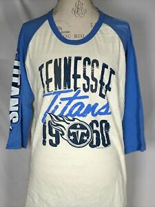 Tennessee Titans NFL Junk Food Raglan Baseball Tee Women's T-Shirt 2XL