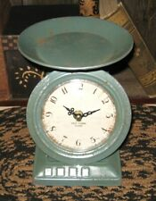 Kitchen Clock Faux Scale/Candle Holder*Primitive/French Country Farmhouse Decor