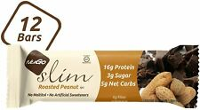 NuGo Nutrition Bar-Slim-Roasted Peanut-1.59oz Bars-Case of 12-Low sugar-kosher