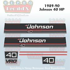 1989-90 Johnson 40 HP Sea-Horse Outboard Reproduction 6 Pc Marine Vinyl Decals