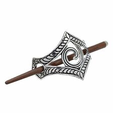 Beautiful Hand Carved Metallic Barrette Wood Stick Hair Clip Hairs Accessory