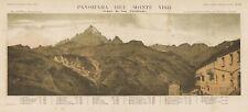 Veduta antica e originale Monte Viso da San Chiaffredo Doyen  1876