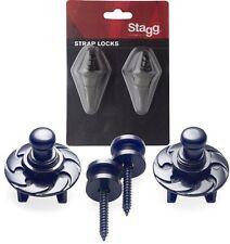 STAGG SSL1 STRAP LOCKS FOR STRAPS GUITAR MANDOLIN BANJO BASS  COLOR Black