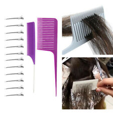 2x Heat-resistant Anti Static Weaving Foiling Hair Comb with Styling Hairclips