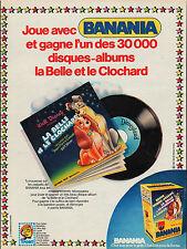 PUBLICITE BANANIA WALT DYSNEY VINTAGE CHOCOLAT AD 1979
