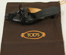 TODS Womens Leather Heels shoes Tods size 34.5 US 4.5 NEW
