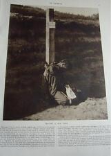"""""""Espion, traître à son pays"""" fusillé 1914  WW1 coupure de presse photo clipping"""