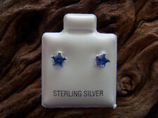 Sterling Silver Cubic Zirconia 5mm Star Birthstone Stud  Buy 2+PAIRS= 1ST CLASS