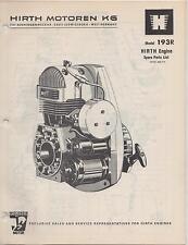 Hirth Snowmobile Engine Parts Manual 193R