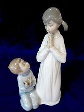 LLADRO #4779 TEACHING TO PRAY BRAND NIB GIRL& BOY RETIRED $105 OFF FREE SHIPPING