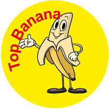 Top Banana Reward Stickers - Great Well Done Kids Incentive - Schools / Nursery